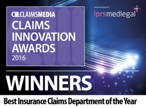 Claims Innovation - Insurance Claims award